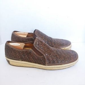 Cole Haan woven leather espadrille loafers